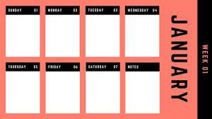 Weekly To Do Calendar Template Purple Blue Gradient Modern Minimalist Weekly Calendar Templates