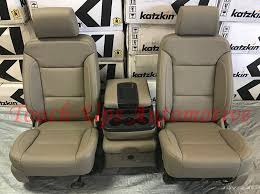 details about 2016 2018 gmc sierra sle crew cab katzkin cocoa dune leather seat covers kit new
