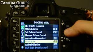 how to set active d lighting or dynamic range on a nikon d600