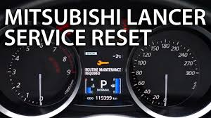 Mitsubishi Lancer Reset Service Light How To Reset Service Maintenance Reminder In Mitsubishi