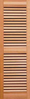 exterior louver. heavy duty western red cedar louver shutter with center mid rail exterior