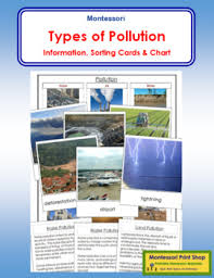 Pollution Chart Images Types Of Pollution Cards Chart By Montessori Print Shop Tpt