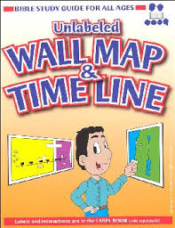 Bible Study Guide For All Ages Wall Map Timeline