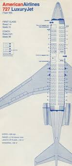 Pan American Center Seating Chart With Rows American Airlines 727 Seating Chart Boeing Aircraft