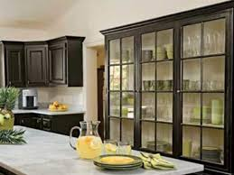 cabinets with glass doors. image of: black kitchen cabinets with glass doors d