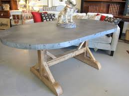 zinc top round dining table gallery also kitchen images