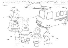 Calico Critters Coloring Page Sylvanian Families005 Little Miss