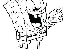 Spongebob Squarepants Christmas Coloring Pages Halloween Colouring
