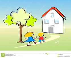 place clipart going home 15