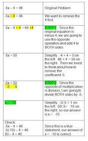 best algebra images teaching math math middle  two step algebra equations