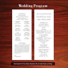 Wedding Ceremony Program Template Free Download Diy Wedding Program Template Radrlab Co