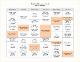 school schedule template elementary school schedule template listmachinepro com