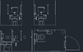 1290x801 toilet drawing free cad blocks and cad drawing autocad bathroom