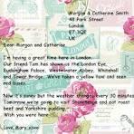 Открытка письмо на английском