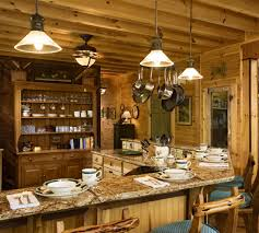 country lighting ideas. Photo 5 Of 6 Rustic Lighting Ideas Southnext Log Cabin Kitchen Decor With Wooden Material Look Country ( E