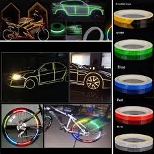 Design Reflective Stickers Details About Bicycle Bike Car Motorcycle Reflective Stickers Night Riding Safety Tape Diy 8m