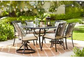 outdoor patio dining set 7 piece powder coated rust weather resistant