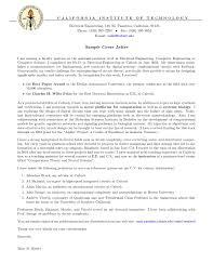 Academic Job Cover Letter Sample Gallery Letter Samples Format