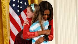 Obama Resume Girl Hands Her Jobless Dad's Resume To Michelle Obama TODAY 73