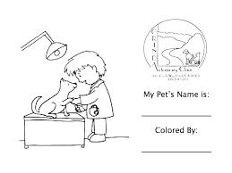 Veterinarian Coloring Page Vet Printable Coloring Es Book Also