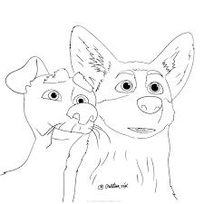 Medieval coloring pages (kings, queens, princesses, etc). The Queen S Corgi Coloring Pages Dog Coloring Pages