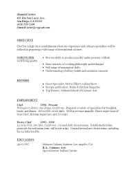 Sample Resume Of A Cook Resume Sample For Cook Job Supervisor