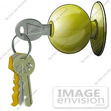 42374 clip art graphic of a door and keys by djart
