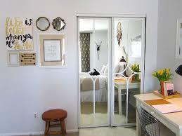 Sliding Mirror Closet Door Decorating Ideas
