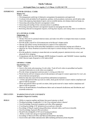 Sample Resume For Clerical General Clerk Resume Samples Velvet Jobs 15