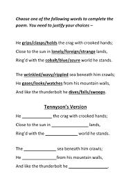 plot summary roll of thunder hear my cry by englishabc poetry lesson the eagle tennyson cloze activity