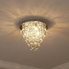 glighone modern round crystal chandeliers ceiling lights crystal pendant light with g9 3 bulbs for