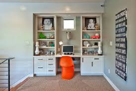 wall unit with built in desk