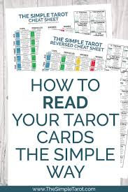 Choose from 10+ tarot cards graphic resources and download in the form of png, eps, ai or psd. Free Printable Tarot Cheat Sheet Pdf