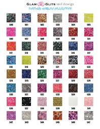 Color Chart Glam And Glits Fantasy Collection