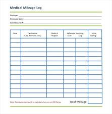 Vehicle Mileage Log Sheet Car Free Willconway Co