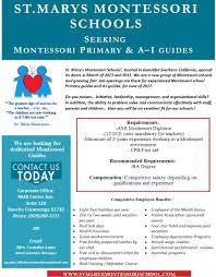 Job Opportunities Montessori Institute Of North Texas
