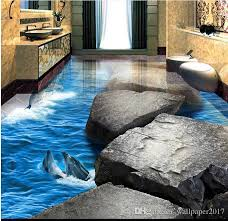 pvc vinyl flooring tiles stone road dolphin ocean world 3d three dimensional bathroom floor tiles wallpapers hd photos wallpapers hd wallpapers from