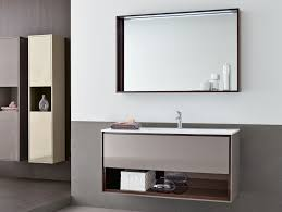 Mirror Bathroom Cabinet Furniture Black Mirrored Bathroom Cabinet Simple Shadow Below