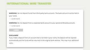 once you are on the deposit page for your preferred method follow these steps