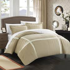 7 piece ashford duvet cover set in navy and taupe sweetgalas
