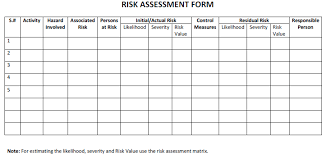 Download Risk Assessment Templates - Method Statement Hq