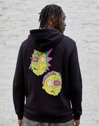 ASOS <b>DESIGN hoodie</b> with <b>Rick &</b> Morty <b>print</b> | ASOS