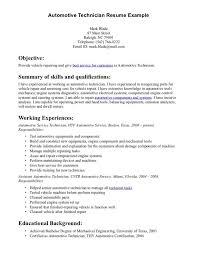 Mechanic Resume Examples Interesting Resume For Auto Cool Mechanic Resume Examples Free Resume Template