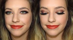 fall inspired makeup tutorial using a new makeup geek duochrome shadow you