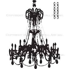 grunge chandelier wall decal