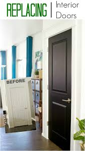 i give my house a major update with new interior doors and bold black paint