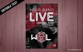 Concert Poster Design Music Concert Poster Design Vector Download