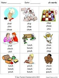 Free printable phonics workbook and printable worksheets for consonant digraphs: Free Ch Phonics Lesson Plans Worksheets And Other Teaching Resources