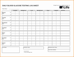 Chart To Record Blood Sugar Levels New Diabetes Tracking Chart Exceltemplate Xls Xlstemplate