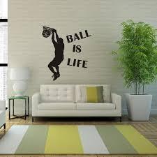 1 St Hot Koop Behang Bal Is Leven Spelen Basketbal Sport Muursticker